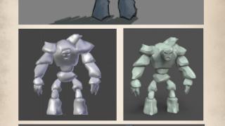 Cast Kick Golem Concept 10