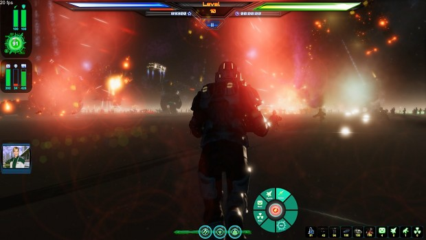 Attacking alien base