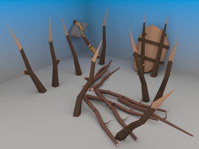 escudo e machado e espinhos 1