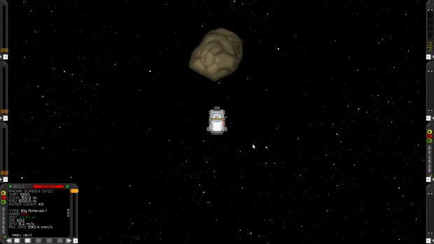 Big Asteroid and Radar Screen