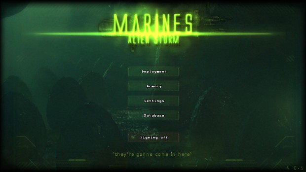 Marines Alien storm 0.5 shots