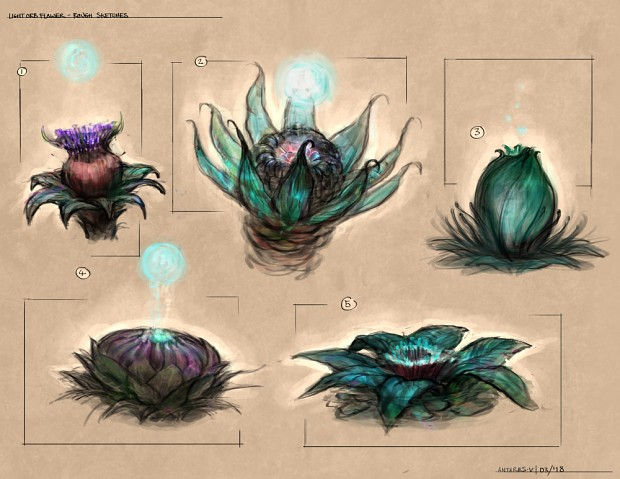orbflower sketches 1