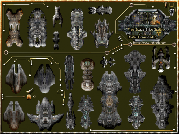 Space Ships Sprites Pack 2