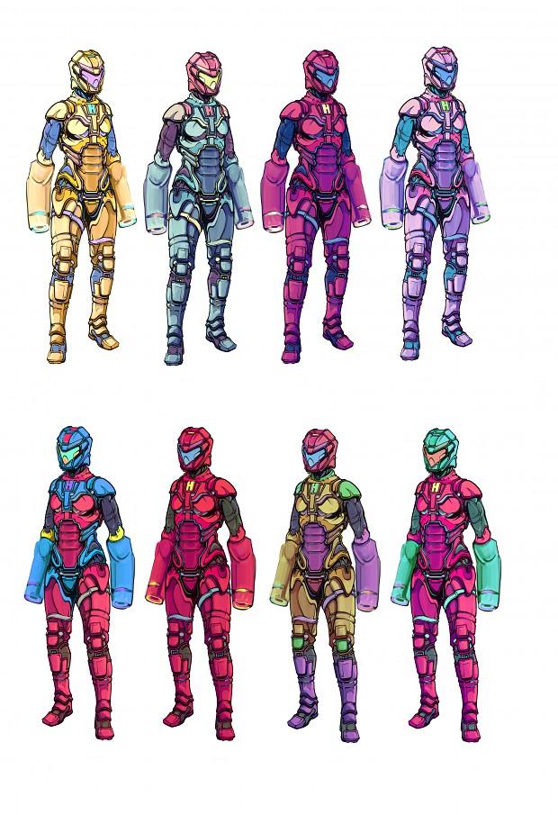 Anti-Force Suit Concepts