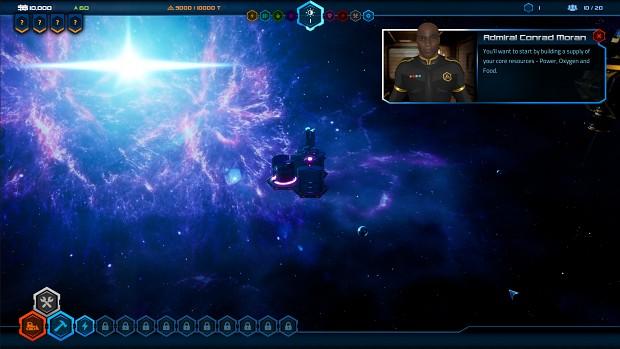 Starport Delta - dynamic nebula
