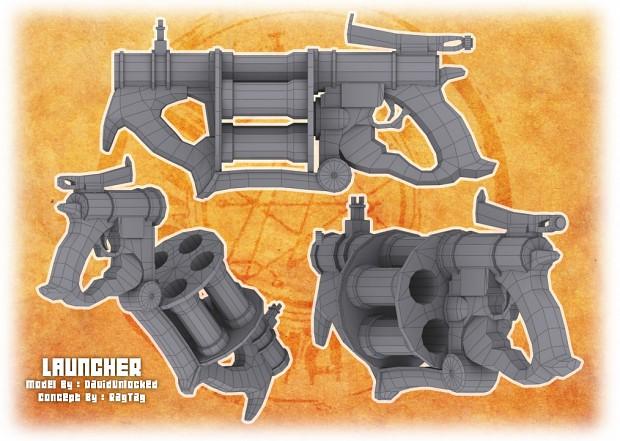 Grenade Launcher WIP model