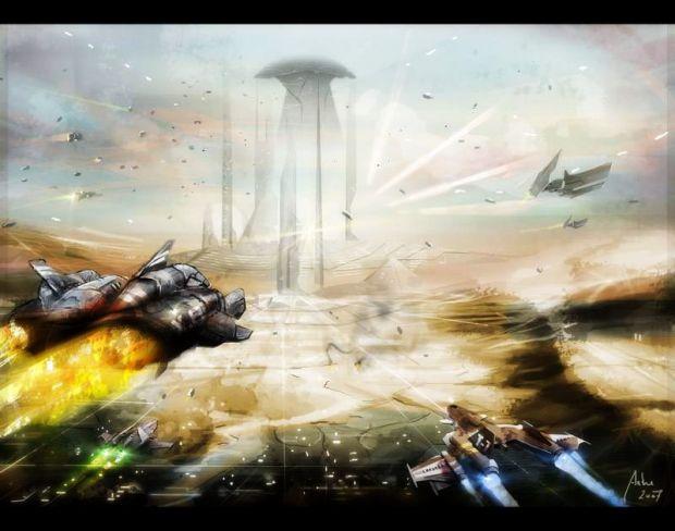 Infinity city landscape