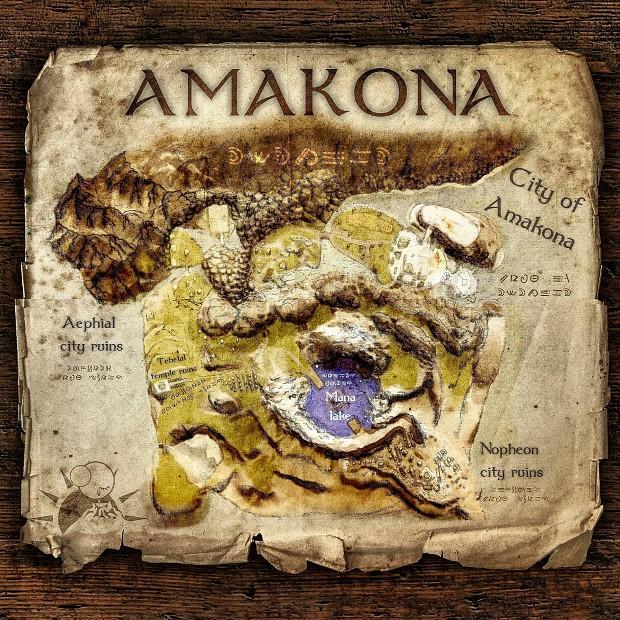 Amakona Map