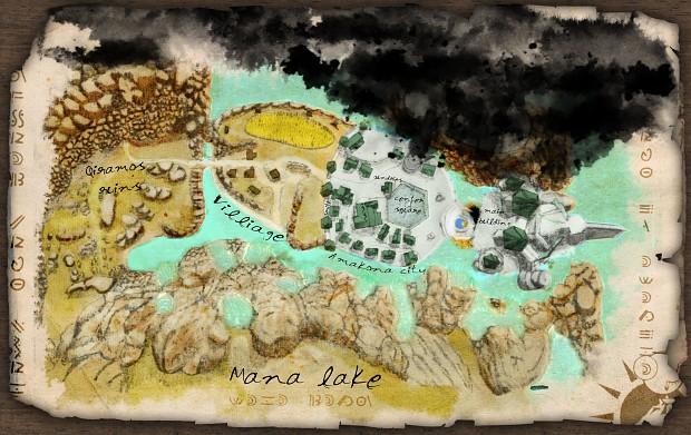 Amakona city map