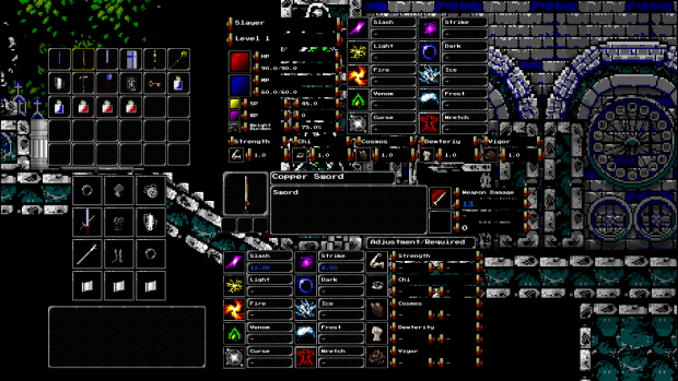 Over-complicated inventory screen