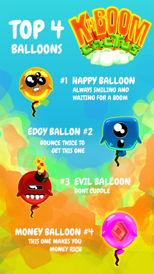 KABOOM CACTUS balloons and pots