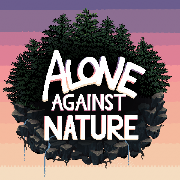 """First draft of """"Alone Against Nature"""" game logo"""