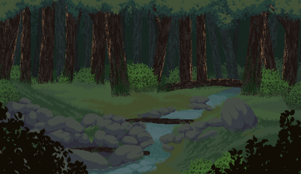 AAN Background - Forest River - Spring