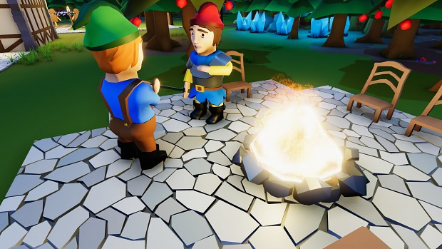 Talking by the campfire