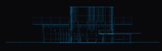 Random room wireframe