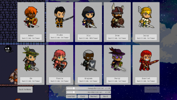 Choose from a Variety of Characters