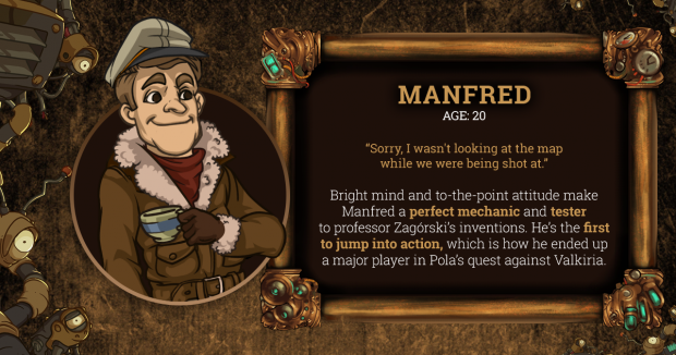 Brassheart Manfred Character Card
