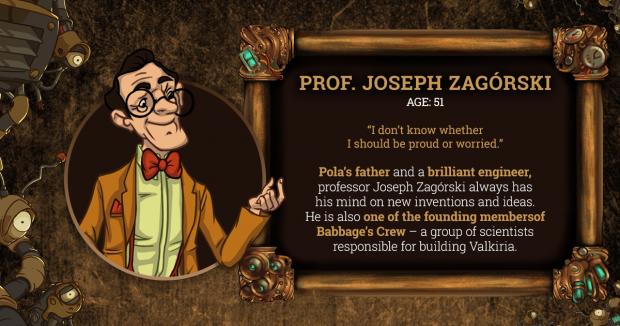 Brassheart Prof. Zagórski Character Card