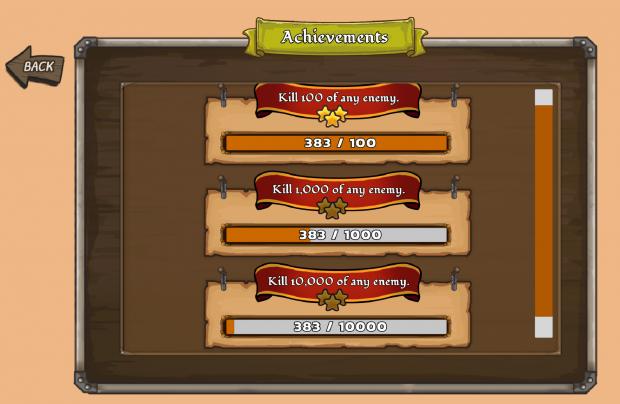 Achievements Screen
