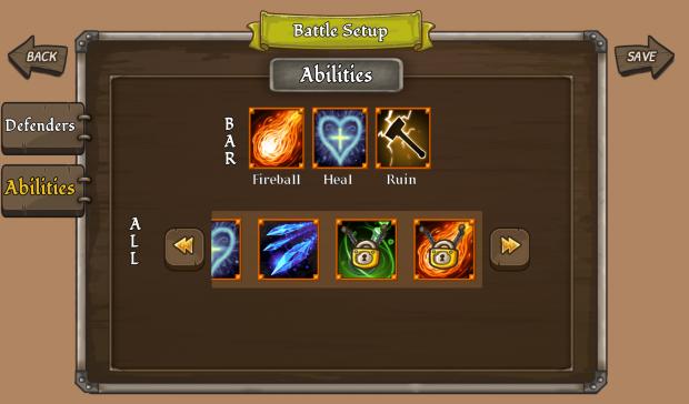 Battle Setup Screen