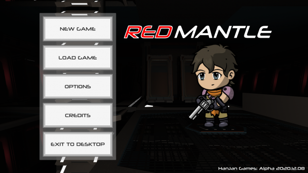 Red Mantle: Main menu and character customization