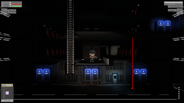 Red Mantle: Lockers, terminals, and lasers