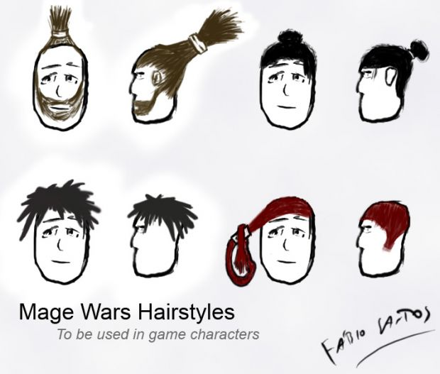 Mage Wars Hairstyles