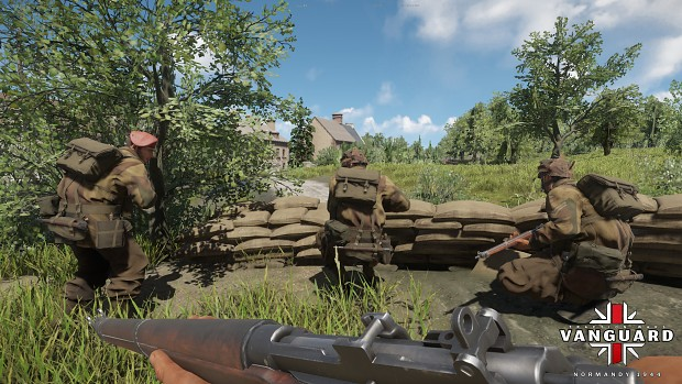British Squad Preparing for Assault
