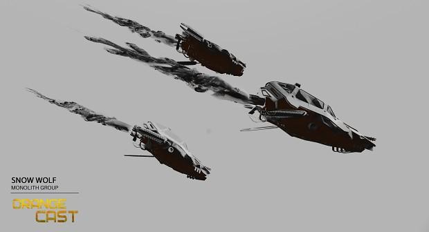 Orange Cast - Snow Wolf Light Speeder