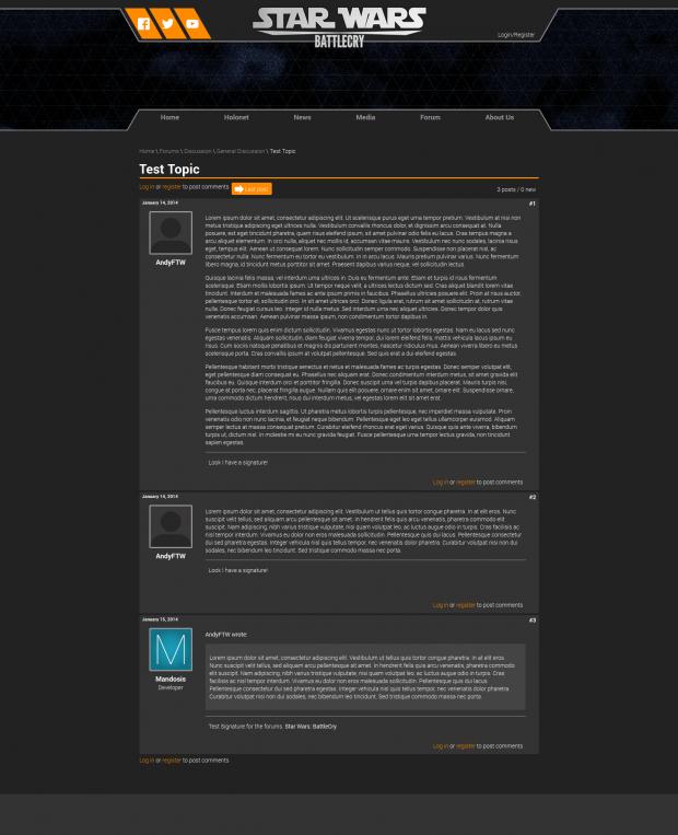 Example forum post (new website progress Feb 2014)