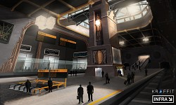 Concept art of the central metro station