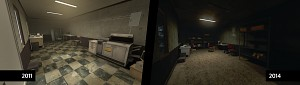 Random abandoned office, then and now