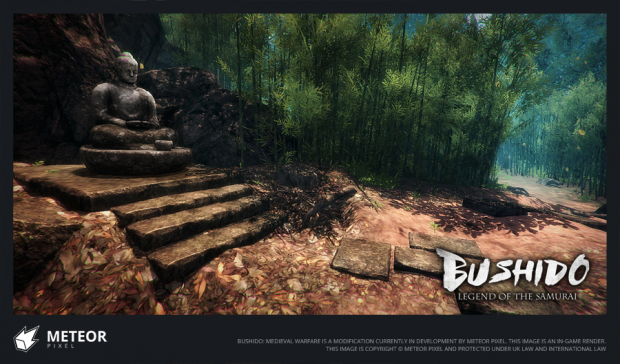 An in-game shot of our Bamboo Forest level