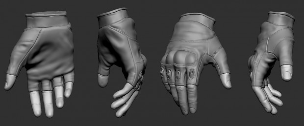 Hands (high-poly)