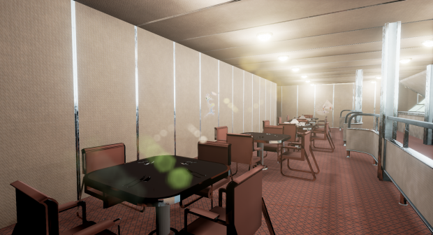 Hindenburg-Class Dining Room