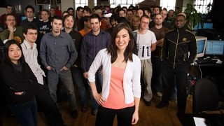 Jade Raymond and Assassin's Creed team