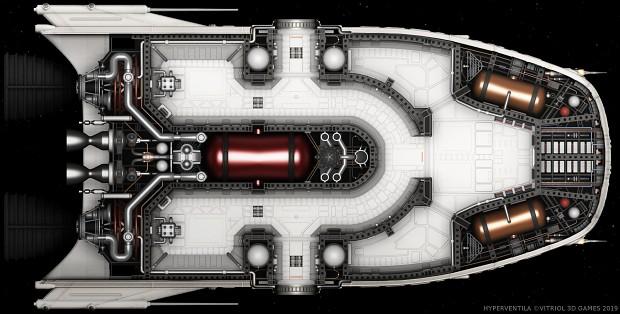Manta Shuttle Interior