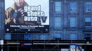 GTA IV Advert in Edinburgh Home of Rockstar North