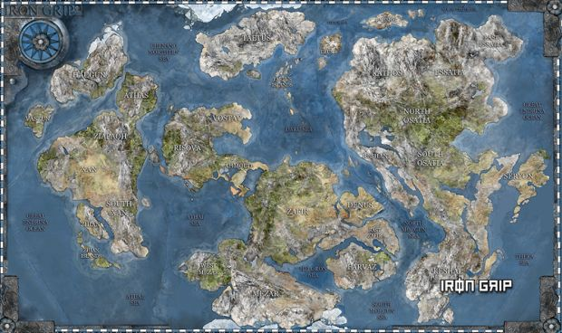 Iron Grip World Map
