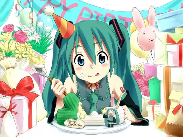 Happy Birthday Hatsune Miku Image Anime Fans Of Moddb