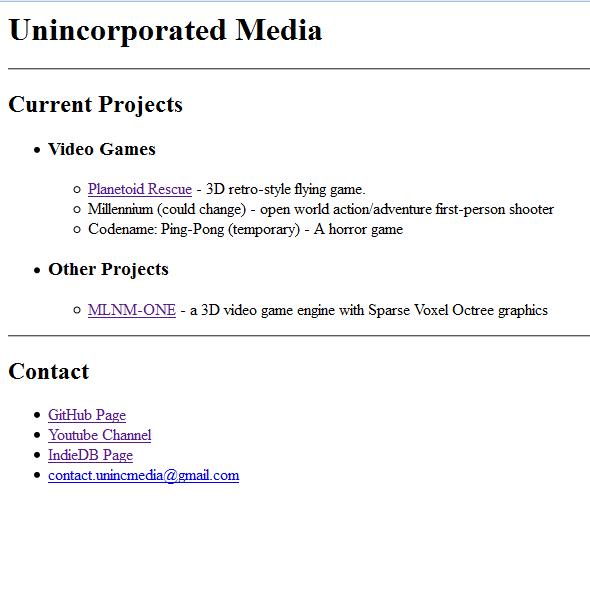 Web Site Screen Shot