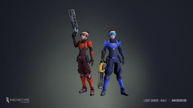 Midair character models.