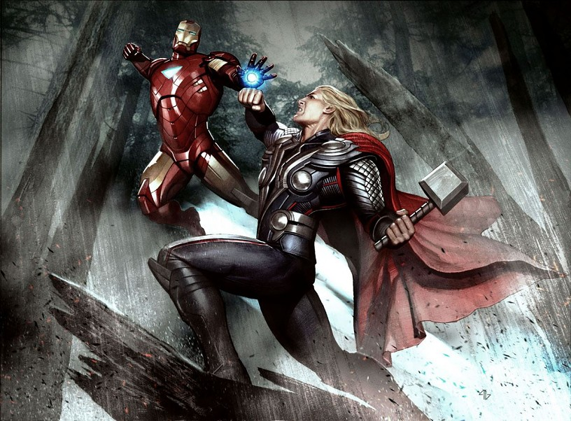The Avengers Thor And Iron Man Wallpaper Hd Image Marvel Dc