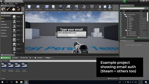 Unreal Engine mod.io Plugin