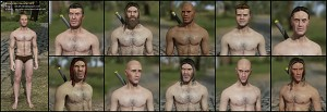 Customizable male character