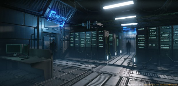 Sci-Fi Server Room - by Grimmstrom
