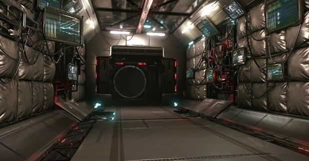 Space Hallway - by David Brumbley