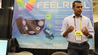 People about the FEELREAL VR prototype (GDC)