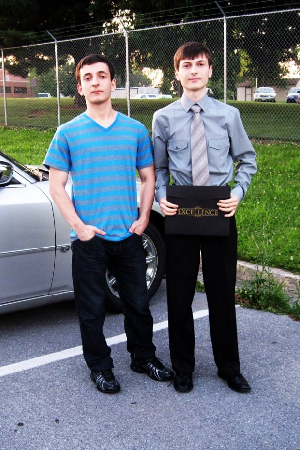 Me and my brother, Aydynbek.