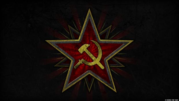 Soviet Hammer and Sickle Wallpaper